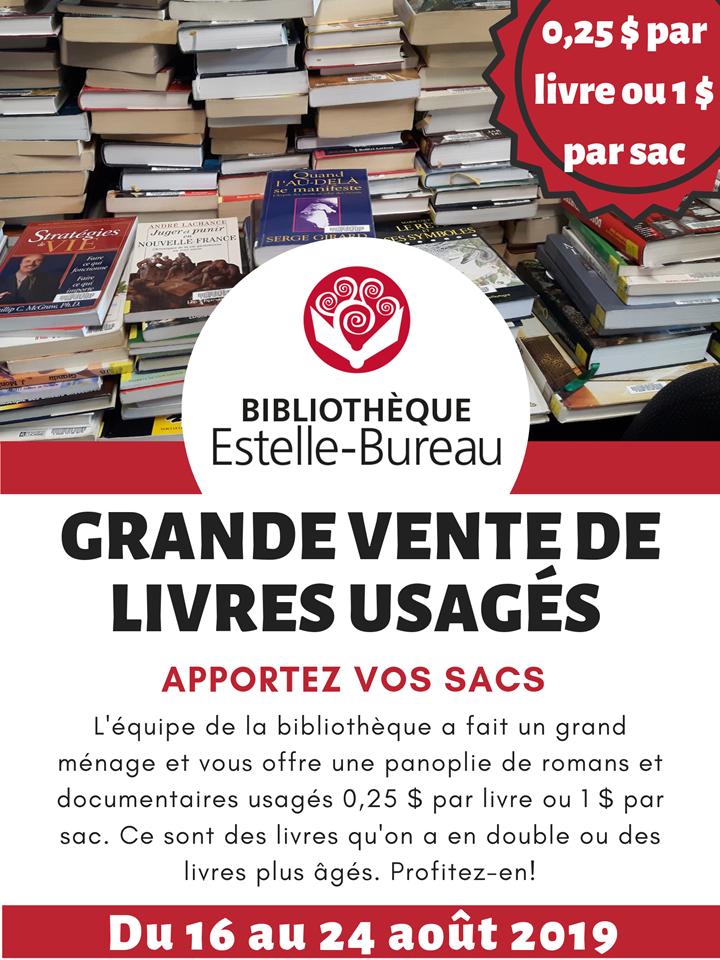 Vente de livres usagés à la bibliothèque @ Bibliothèque