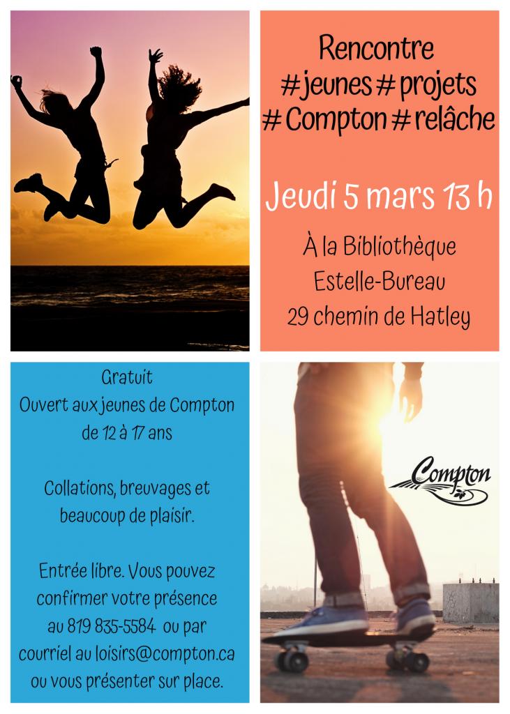 Rencontre jeunesse @ Bibliothèque Estelle-Bureau